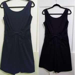 Kate Spade Bow Fit and Flare Dress Dark Gray